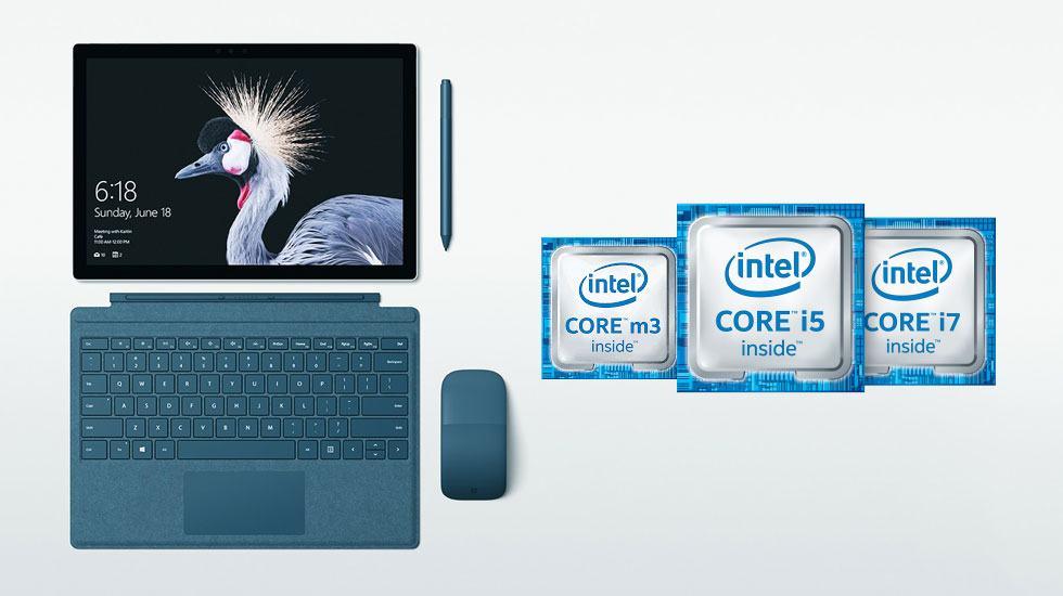 So Sánh Bộ Vi Xử Lý Core m3 và i5 và i7 Trong Surface Pro 5
