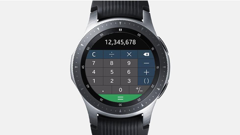 App Galaxy Watch - Calculator