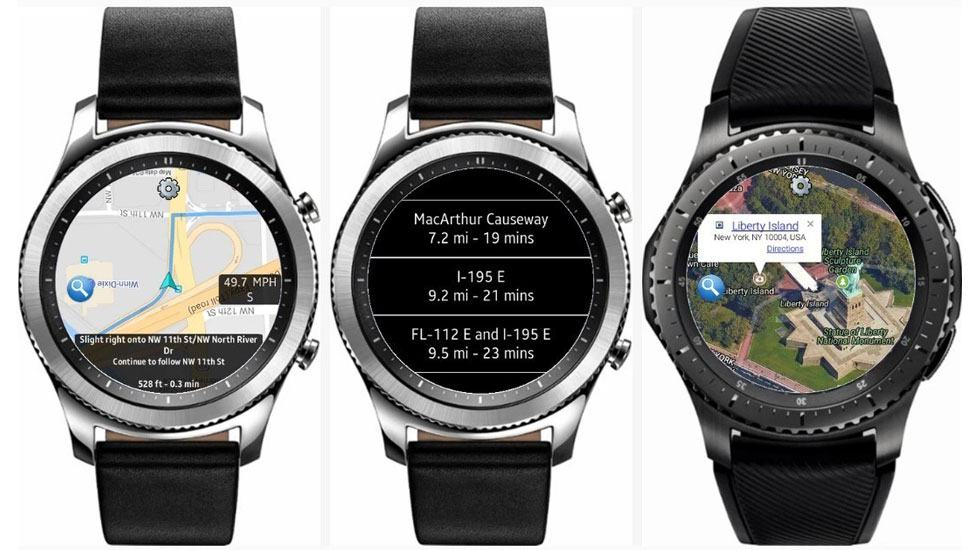 App Galaxy Watch - Here WeGo