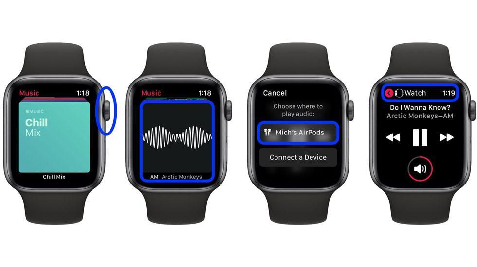 Apple Watch có thể đồng bộ với Apple Music