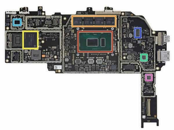 Tháo rời các bộ phận của Surface Pro 6 23