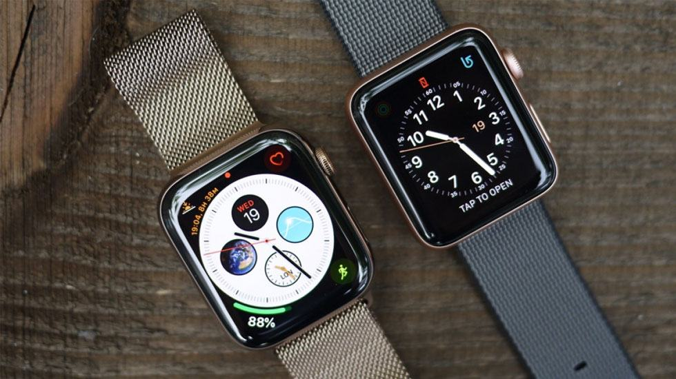 Apple Watch Series 4 và Apple Watch Series 3