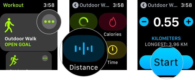 Workout trên Apple Watch