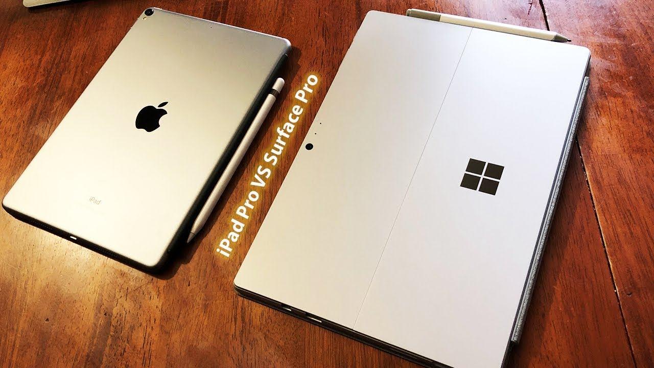 So sánh chi tiết Surface Pro 2017 vs iPad Pro 2017 2