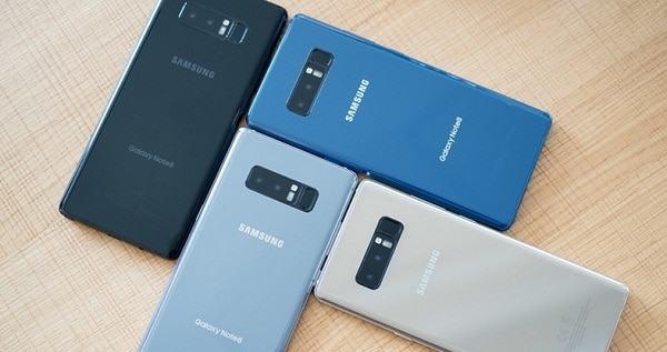 Các màu Samsung Galaxy Note 8