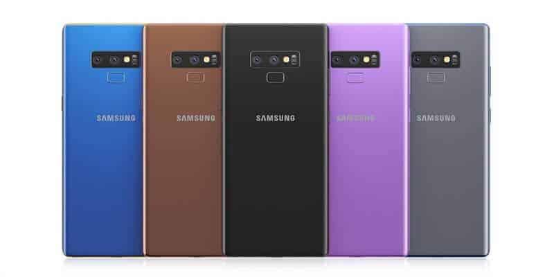 Các màu Samsung Galaxy Note 9