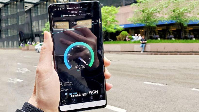 Kiểm tra tốc độ mạng 5G tại Mỹ bằng S10 5G đạt kết quả kinh ngạc.