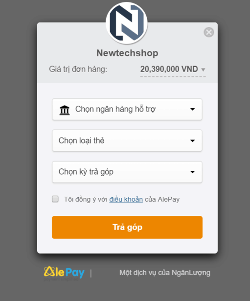 thanh toán online qua AlePay