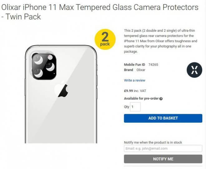 Thiết kế của iPhone 11 với cụm camera sau và màn hình tai thỏ? 1