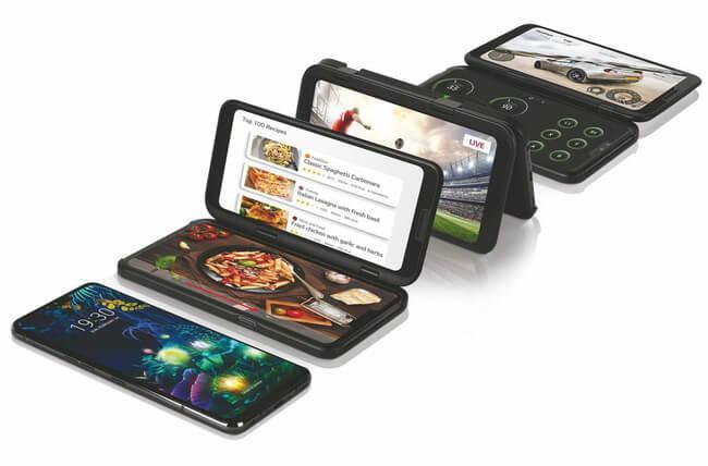 Trên tay LG Dual Screen phụ kiện khiến LG V50 ThinQ 6