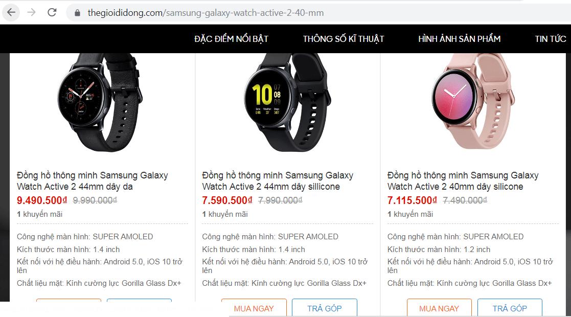 3 tiêu chí hàng đầu khi lựa chọn nơi mua đồng hồ Galaxy Watch Active 2 14