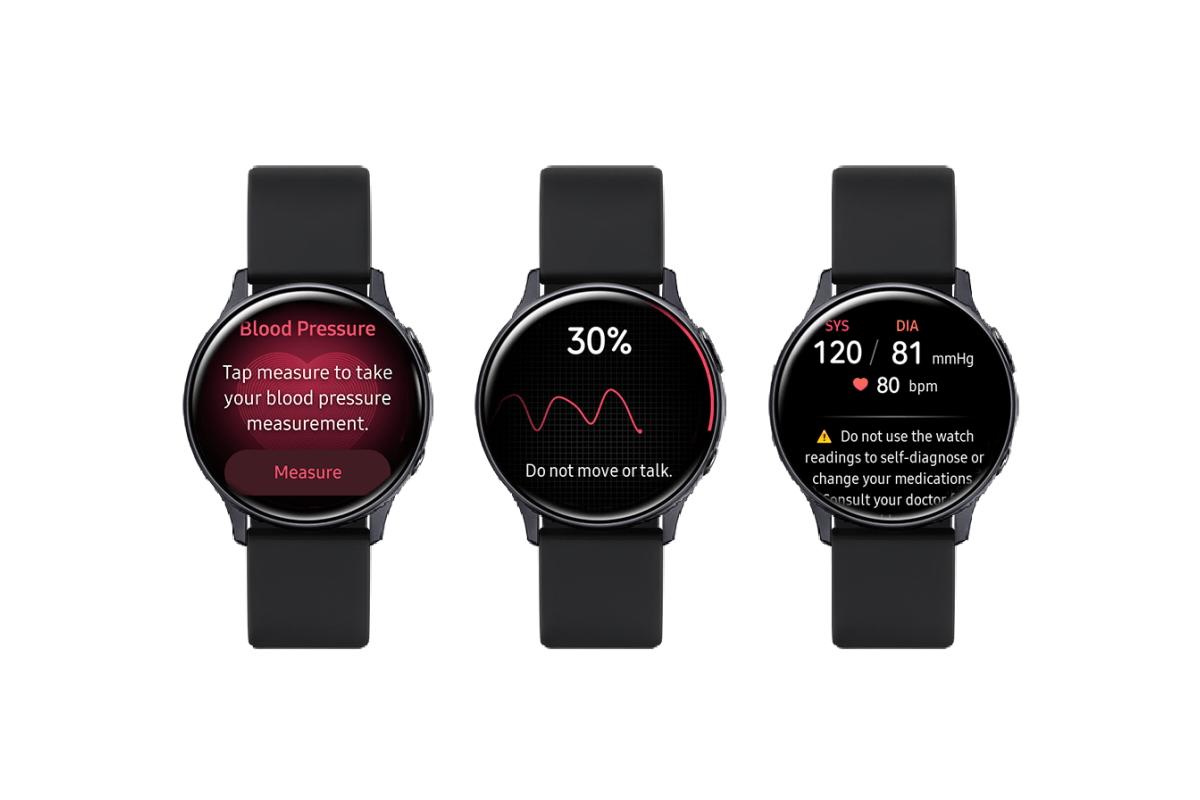 Cảm biến nhịp tim và đo huyết áp trên Watch Active 2 tỏ ra vượt trội hơn.