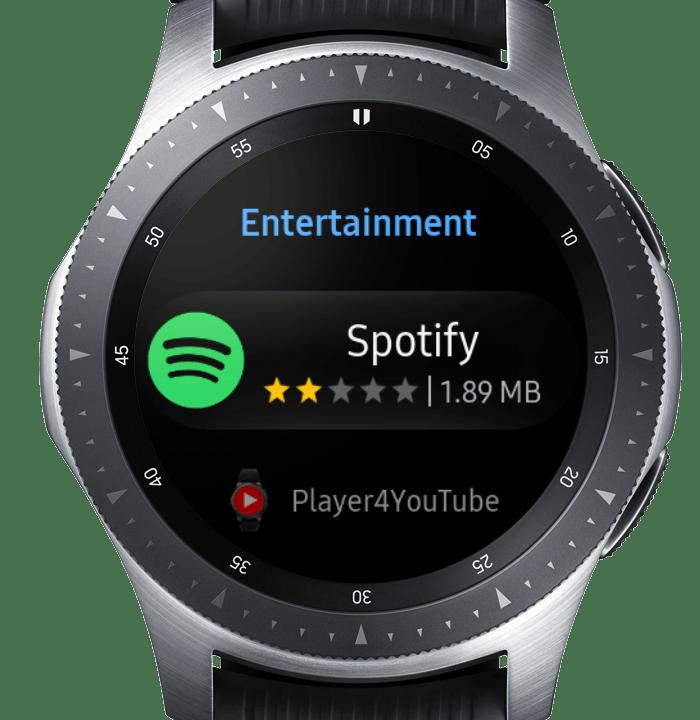 Samsung galaxy watch active 2 hỗ trợ nghe nhạc trên ứng dụng Spotify