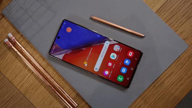 Màn hình Samsung Galaxy Note 20 (Hình ảnh: TechRadar)