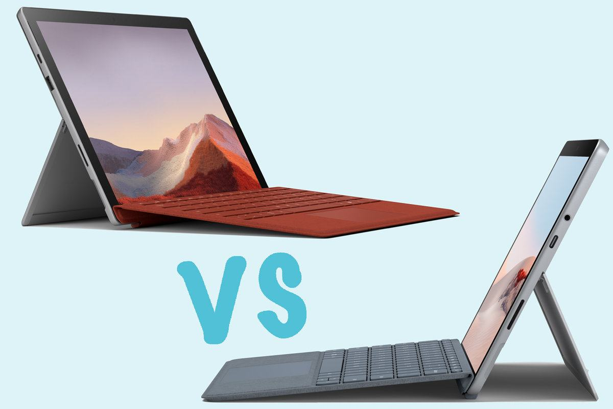 Surface Go vs Surface Pro 7 32