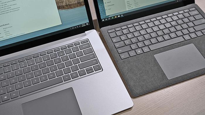 Surface laptop 3 và Macbook Air 2020: Trải nghiệm bàn phím tuyệt vời