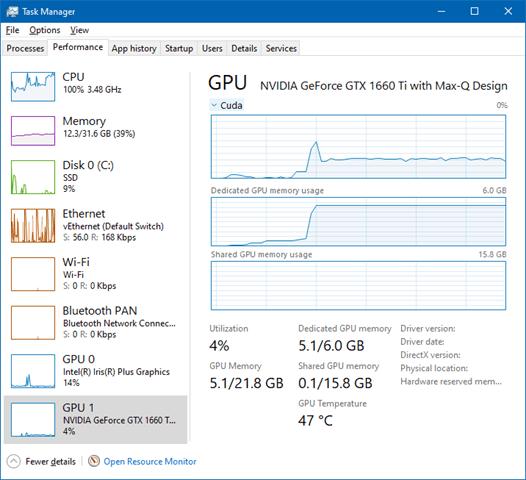 Các thông số GPU - GAMING VÀ TENSORFLOW