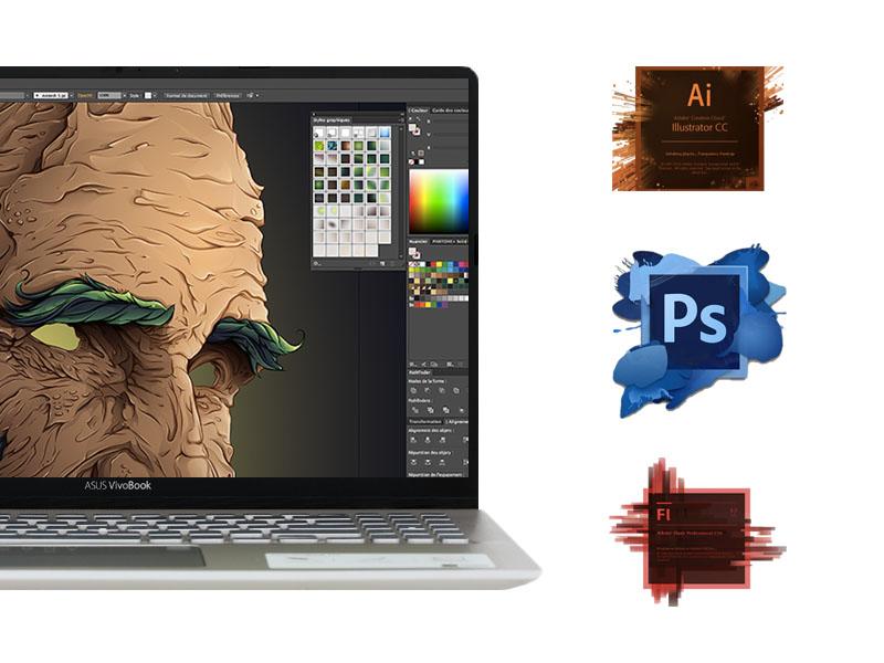 Dòng laptop cho dân thiết kế: Asus Vivobook