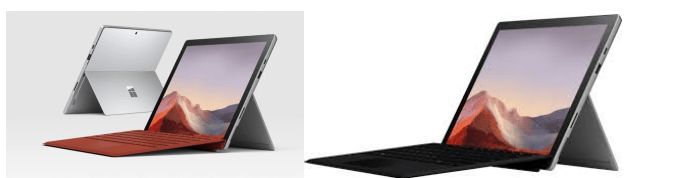 Các cổng kết nối Surface Pro 7 vs Surface Pro X @Microsoft