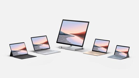 Các dòng máy Surface của Microsoft.
