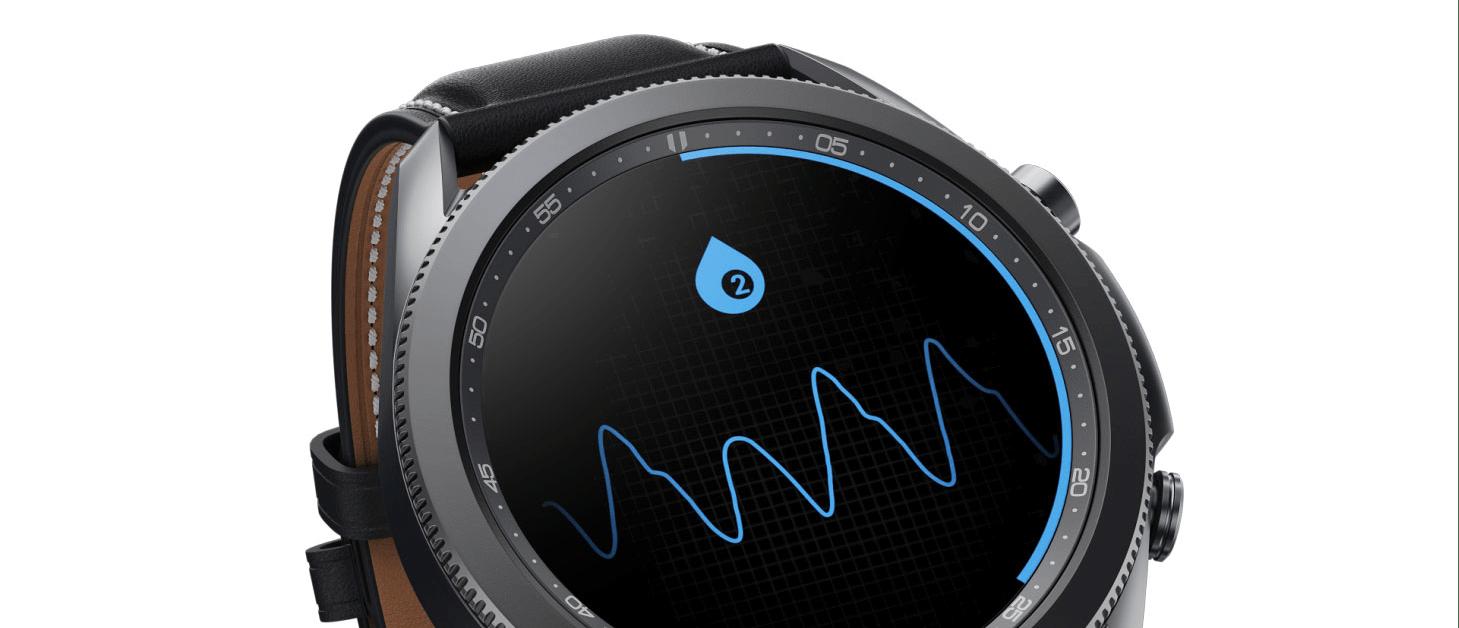 Tính năng kiểm tra độ oxy trong máu của Galaxy Watch 3.