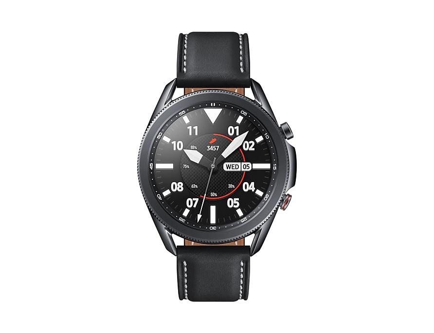 Mặt đồng hồ Samsung Galaxy Watch 3 dạng tròn đẹp mắt và có khung vòng xoay vật lý tiện dụng
