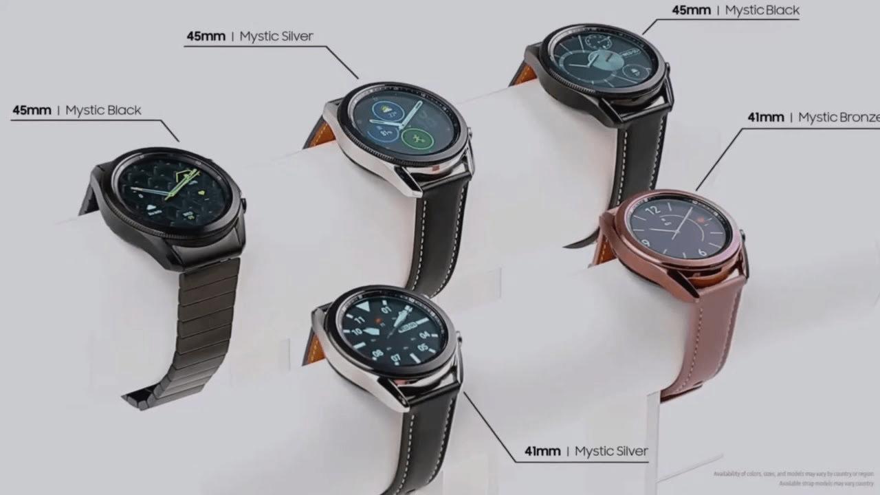 Thiết kế Galaxy Watch 3 đa dạng về kích thước, màu sắc và chất liệu