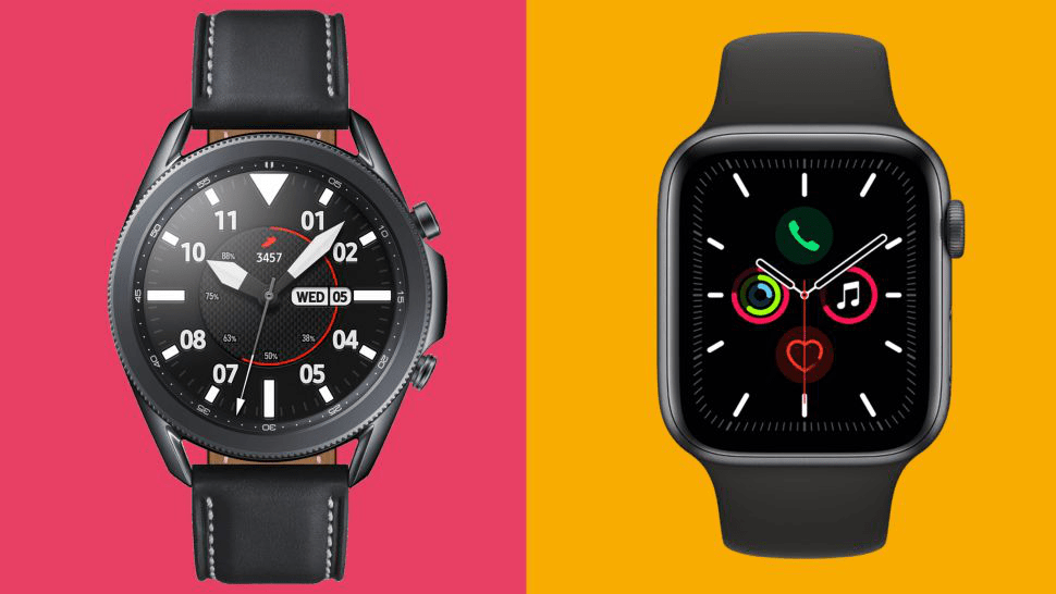 So sánh Samsung Galaxy Watch 3 và Apple Watch 5 1