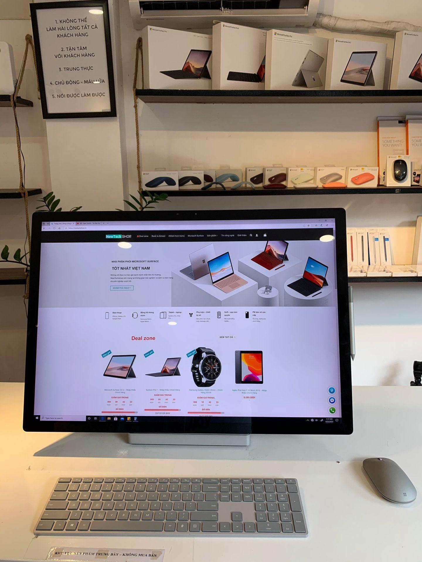 Surface Studio 2 2TB I7-7820HQ 32GB GTX 1070 8GB GDDR5 Chính Hãng 18