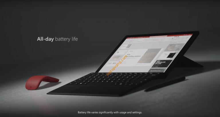 Thời lượng pin của Surface Pro X vs Surface Pro 7 Plus