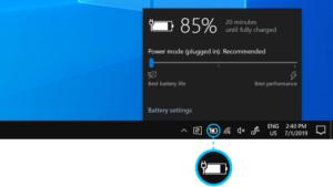 Tránh bảo quản thiết bị Surface khi mức pin trên 50% (Nguồn: Microsoft Support)