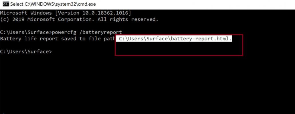 Hướng dẫn kiểm tra pin và số lần sạc trên Surface 2