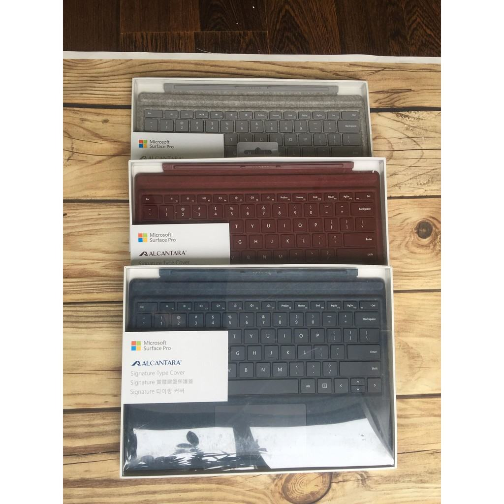 Bàn phím Signature Alcantara Type Cover Surface Pro Chính Hãng 19