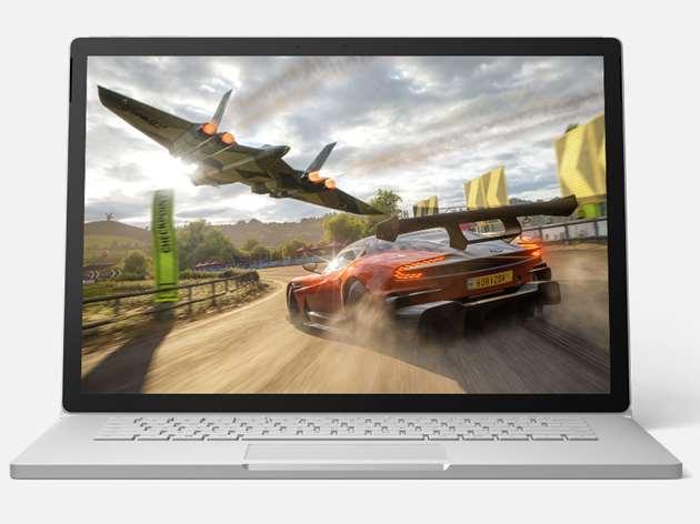 Surface Book 3 13.5 inch cho thời gian sử dụng sau 1 lần sạc đầy là 15,5 tiếng