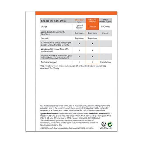 Microsoft Office 365 Personal 4
