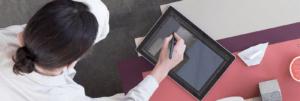 Surface pen 2017 sở hữu khả năng viết và vẽ nét đậm nhạt gần như là bút thật