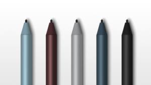 Surface pen 2017 có đến 5 màu cho bạn lựa chọn