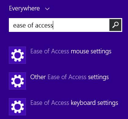 Chọn Ease of Access keyboard settings (Nguồn: lovemysurface)