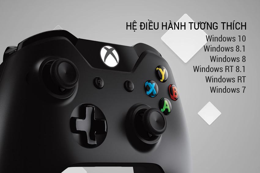 Tay cầm Wireless Xbox Controller màu đen Microsoft cực đỉnh 8