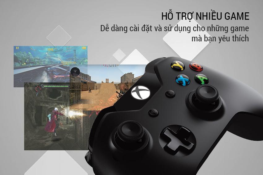 Tay cầm Wireless Xbox Controller màu đen Microsoft cực đỉnh 10