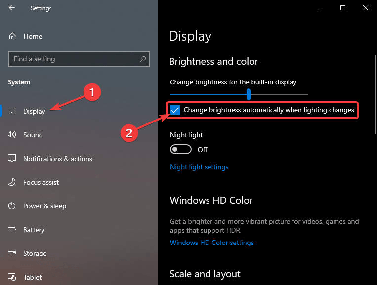 Cách bật tắt độ sáng màn hình trên Surface 6