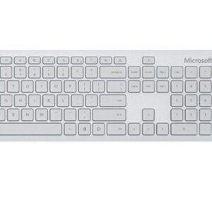 Bộ bàn phím, chuột Bluetooth Microsoft xám trắng 4