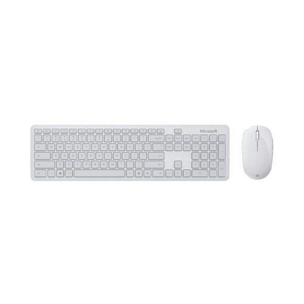 Bộ bàn phím, chuột Bluetooth Microsoft xám trắng 1