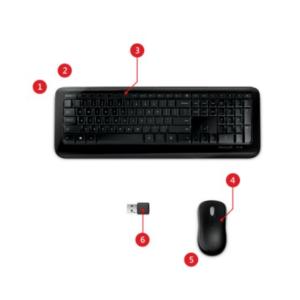 Bộ bàn phím và chuột không dây Wireless 850 màu đen Microsoft 3