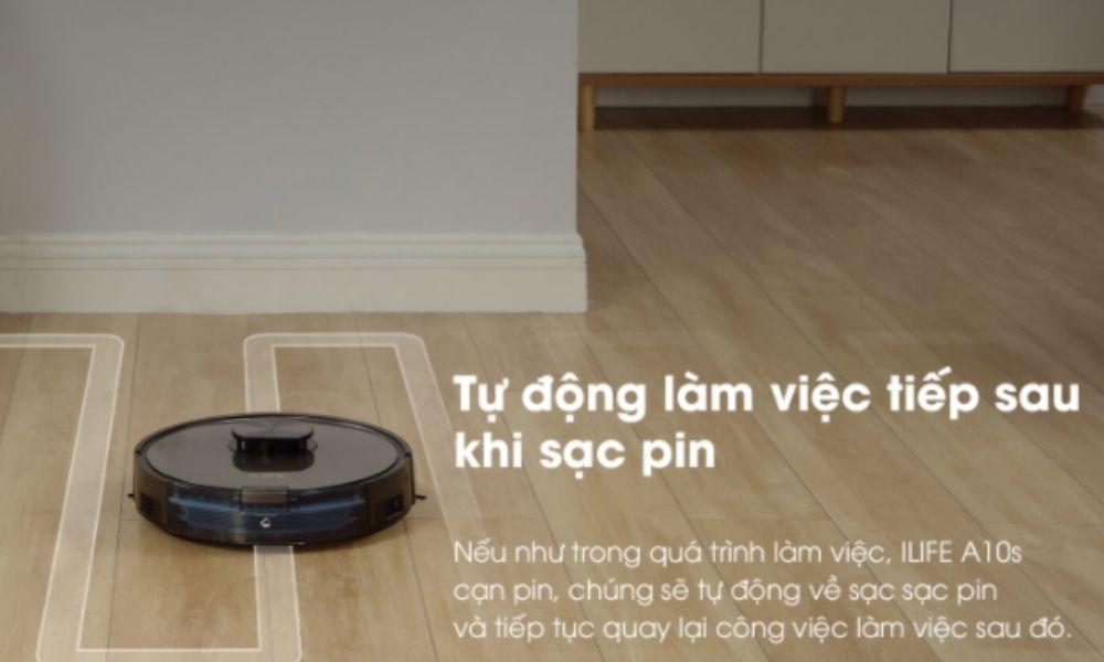 Phiên bản robot hút bụi ILIFE với chức năng tự động sạc pin