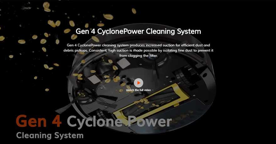 Phiên bản robot hút bụi ILIFE được trang bị hệ thống Gen 4 CyclonePower cao cấp
