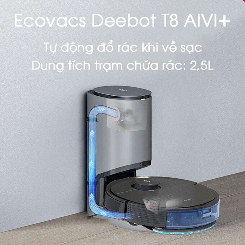 Dock Sạc Tự Động Hút Rác Dành Cho Deebot OZMO T8/T8 Aivi 17