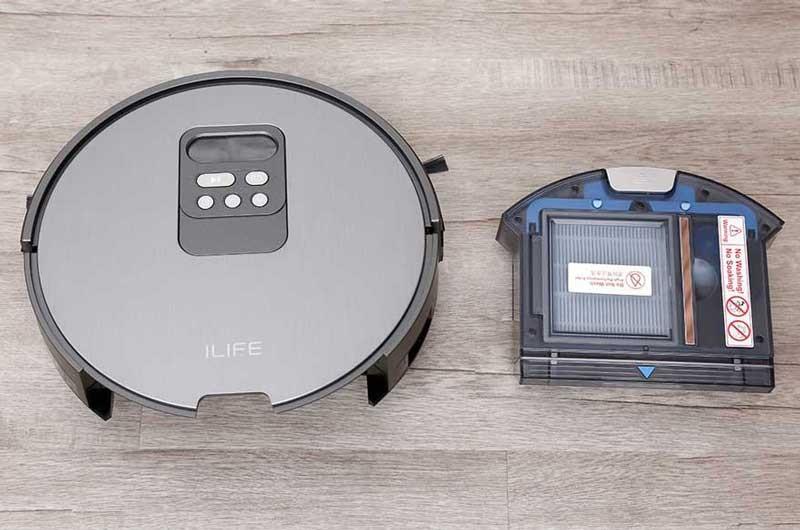 Robot hút bụi lau nhà ILIFE trang bị thùng đựng rác lớn
