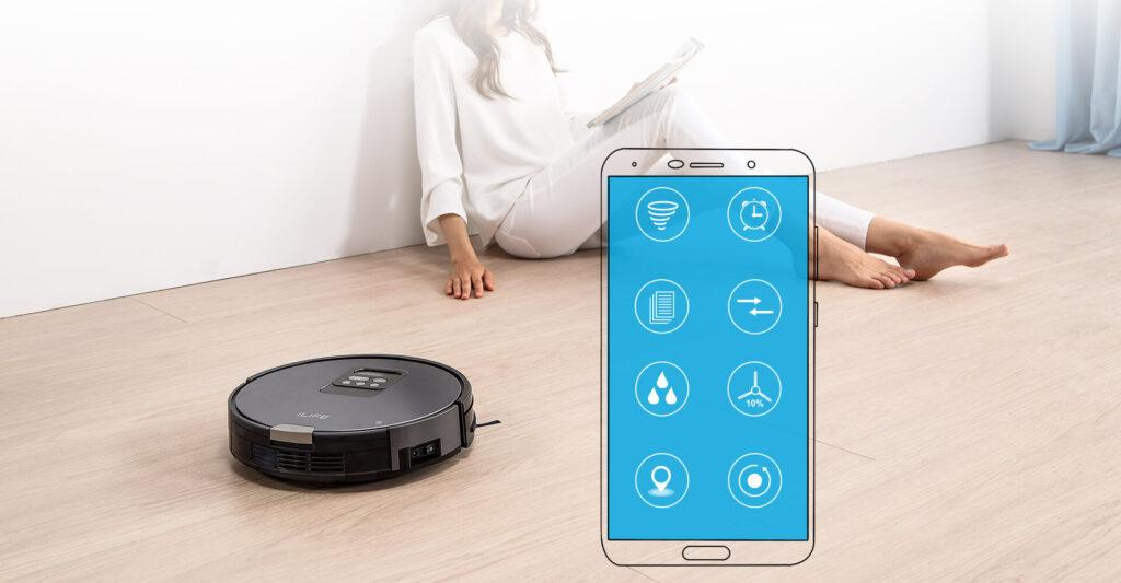 Kiểm soát hoàn toàn Robot ILIFE V80C và thao tác tiện lợi trên App ILIFEHOME trên điện thoại