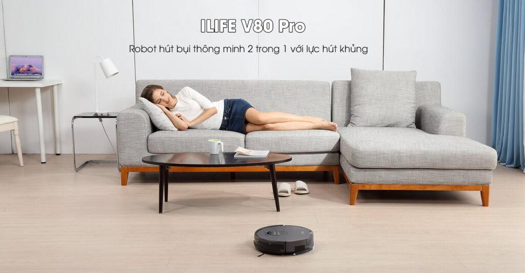 Khi nhà được hút hoàn toàn bụi bẩn, chu kỳ lau tiếp theo của ILIFE V80 Pro sẽ một lần nữa lấy đi hoàn toàn bụi bẩn trên mặt sàn